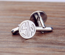 High Quality Custom Cfflink for Men Wedding Gift Silver Plated Shirt Cufflink Popular Personalize Monogram Wedding Cufflinks