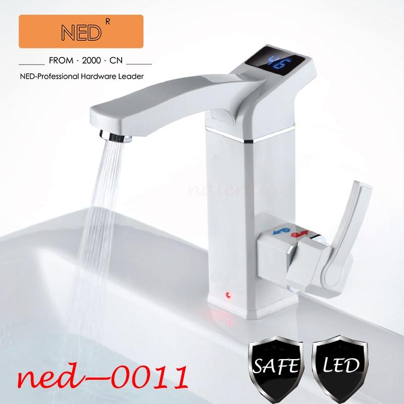 NAIERDI водонагреватель кухонный кран для ванной комнаты домашний электрический кран водопроводный кран одна секунда из горячей светодио дны...