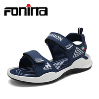 FONIRRA 2019 Summer Kids Pu Leather Sandals Beach Shoes Cowboy Children' s Casual Sandals Sport Sandals Big Boy Size 30 39 658