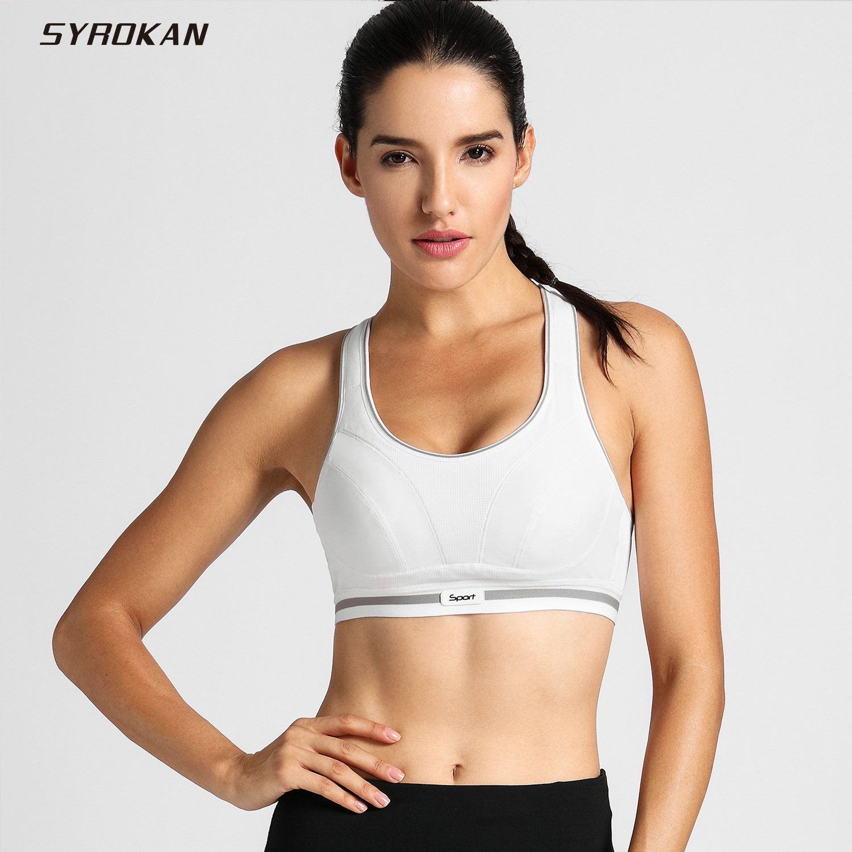 Wire Sports Bra | Hot Sale Syrokan Women S High Impact Racerback Wire Free Workout