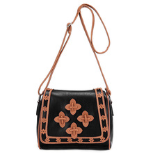 2017 Fashion women bags New patchwork hollow out Portable Shoulder Satchel Women Messenger Bags shoulder Bag