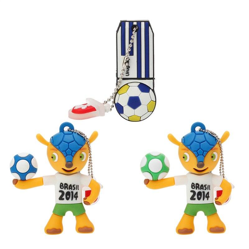Image 3 - Memory Stick Brazil World Cup Mascot Cartoon USB Flash Drive 4GB 8GB 16GB 32GB 64GB Pen Drive 128GB Usb 2.0 Pendrive Thumbdrives-in USB Flash Drives from Computer & Office