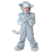 Toddler Little Wolf Winter Halloween Cosplay Costumes Adorable And Cozy Outfit Winter Warm Fleece Dress Up