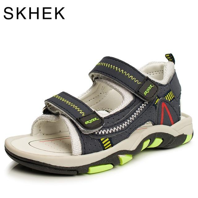 2018 קיץ סנדלי בני ילדי מותג נעליים לפעוטות הבוהן סגור אורטופדי ספורט נעלי סנדלי בני תינוק עור PU
