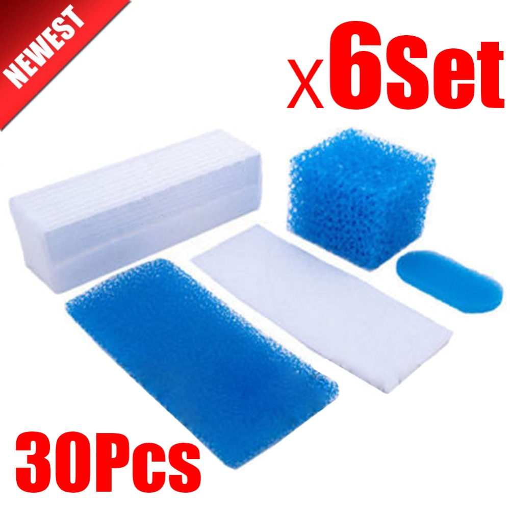 30pcs/6set for Thomas Twin Genius Kit Hepa Filter for Thomas 787203 Vacuum Cleaner Parts Aquafilter Genius Aquafilter Filters