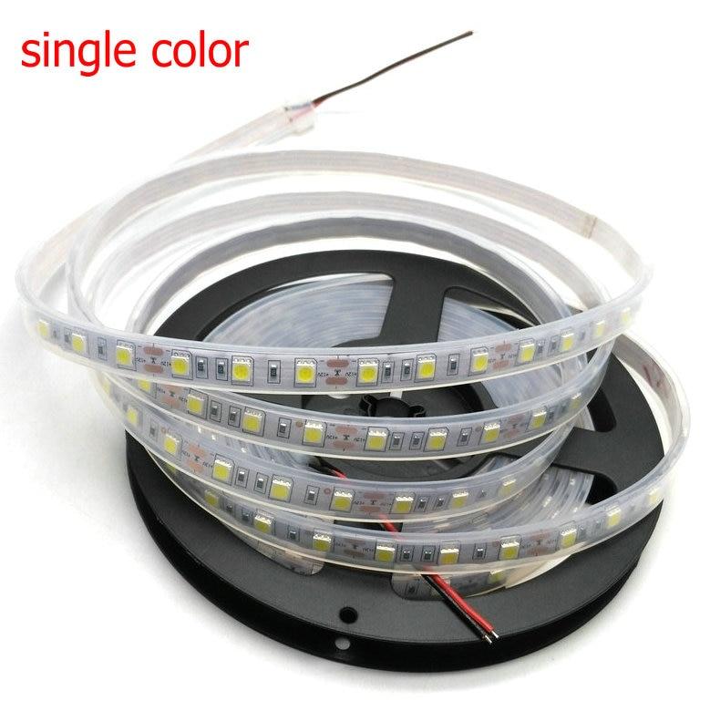 IP67 5050 LED csík DC12V 60 LED / M kiváló minőségű szilikon - LED Világítás - Fénykép 4