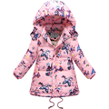 Long Down Jacket For Girls Brand Children Parka Butterfly Girls Winter Coat Duck Down Thick Hooded Winter Jacket reima Russian