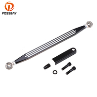 POSSBAY Black Sliver Motorcycle Shift Linkage for Harley Touring Electra Street Road Glide King for Harley Davidson 1980 2017