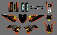 Motorcycle Team Graphics Background Decal Sticker Kit For KTM 50 SX 2009 2010 2011 2012 2013