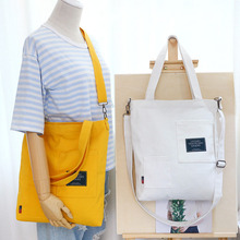 цены New Women Handbag Canvas Tote Women's Shoulder Bag Designer Large Capacity Casual Messager Bags High Quality School Student Bag
