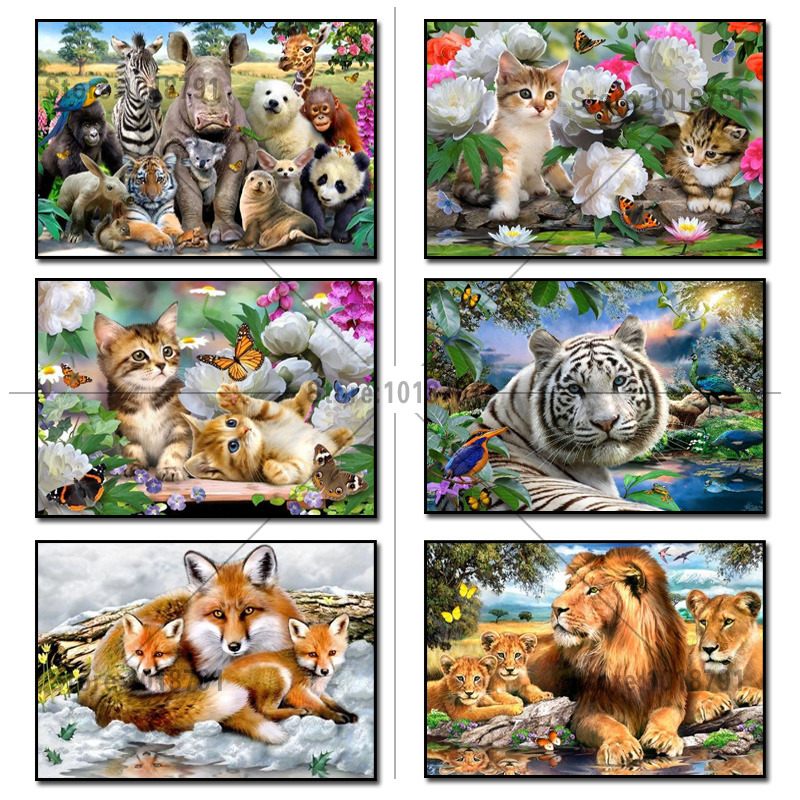 Craft 5D diamond painting resin mosaic diamond painting whole picture drill diamond Diamond needlework embroidery couple cats in Diamond Painting Cross Stitch from Home Garden