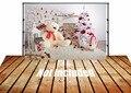 Venta caliente Horizontal Arte tela 5X7ft telón de fondo recién nacido telón de fondo la fotografía, fondo De Navidad D-3356