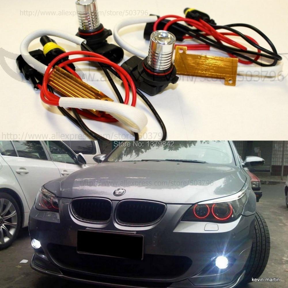 Free shipping car-styling LED H11 Fog Lights White No Error/Warning for E90 E91 BMW 2006-2008