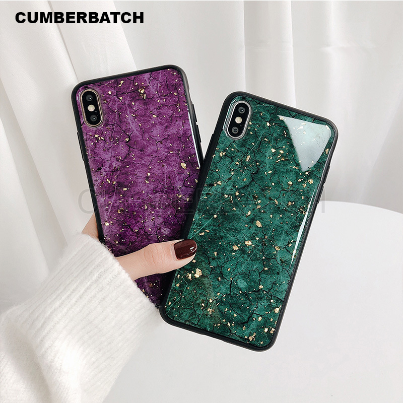 Marble Case For Samsung Galaxy S10 S9 S8 Plus A30 A50 A70 A60 Platinum Glitter Silicone Cover For Samsung Note 9 8 10 TPU Case image