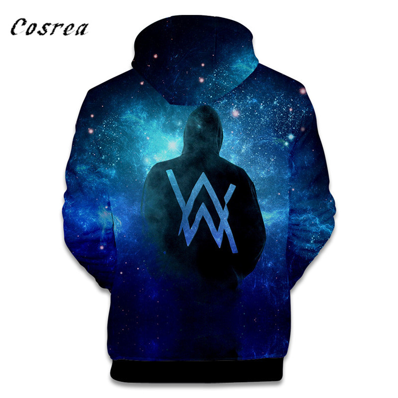 Music DJ Alan Walker Hot Fashion Alan Olav Walker 3D Hoodies Men/women High Quality Harajuku 3D Print Men's Hoodies Clothes