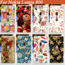Лидер продаж наличии мультфильм шаблон Матовая Жесткий Пластиковый Чехол для Nokia Lumia 800 чехлы для телефонов Чехол