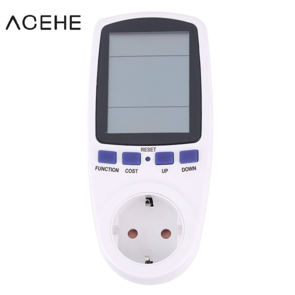 digital wattmeter electric power watt meter energy voltage EU plug electronic monitor AC Meters 220v electricity consumption New