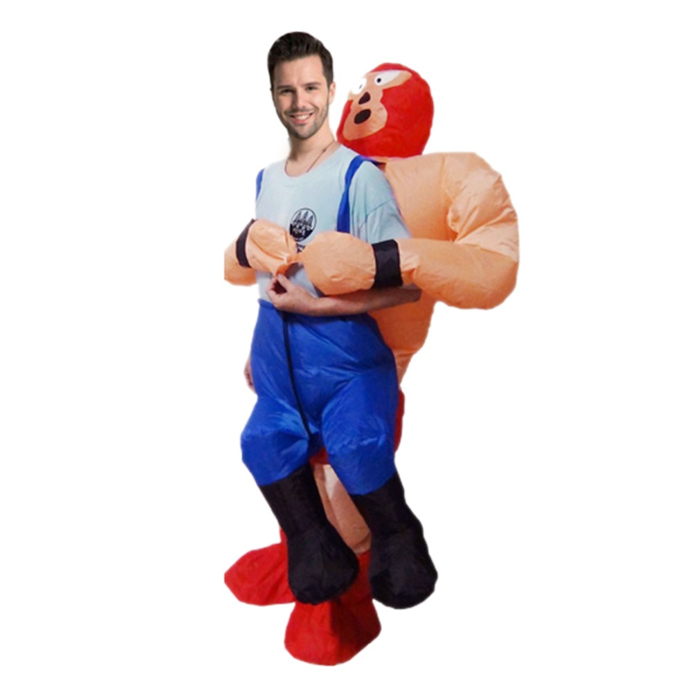 Funny Wrestler Cosplay Costume The Strong Man Threw Me Out In His Arms Fancy Dress Up  For Christmas Halloween Adult Man