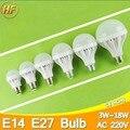 High Bright E14 E27 LED Lamp 220v Ball Bulb LED Light bulb 3W 5W 7W 9W 12W 15W 18W Lampara Bombilla Ampoule spotlight SMD5730