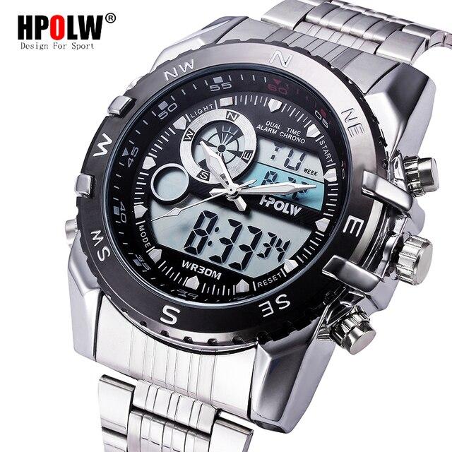 9cdef2ea55b Homens Casuais Esporte LED Relógios Homem Relógio Digital Militar Do  Exército dos homens relógio de Pulso