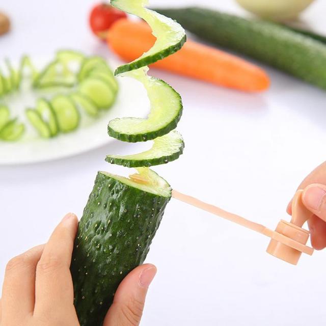 NEW Kitchen DIY Vegetables Potato Cutter cuke Carrot Spiral Slicer Cutting Modes Cooking Tools Fruit Manual slicing knife 1