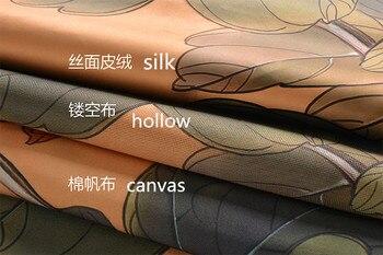 Halb Vorhang Heißer Verkauf Schmetterling Pfingstrose Muster Traditionelle Chinesische Tür Vorhang Für Wohnzimmer E-009
