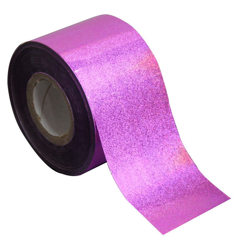 120m*4cm Purple-Laser Nail Art Wraps Transfer Foil Nail Stickers Harajuku Style Nail Foil Roll Manicure Nail DIY Tips WY249 top nail 20 rolls of laser gold silver glitter striping tape line nail art tips decals beauty transfer foil stickers for nails