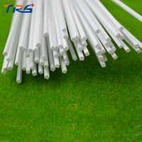 Teraysun 100 piezas 1,5*1,5mm varilla cuadrada ABS plástico JYG-1.5 50 cm de longitud
