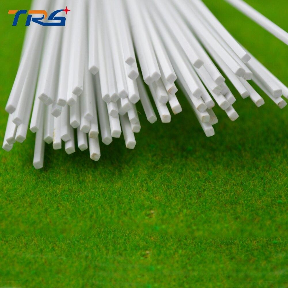 Teraysun 100pcs 1.5*1.5mm Square Rod ABS Plastic JYG-1.5 50cm Length