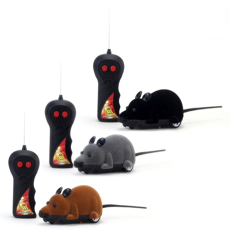 Funny Wireless Remote Control RC Rat Mouse Toy Cat Puppy Interaction Funny Toy