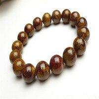 12mm Genuine Natural Yellow Pietersite Gems Stone Round Bead Charm Jewelry Powerful Mens Stretch Bracelet Free Shipping