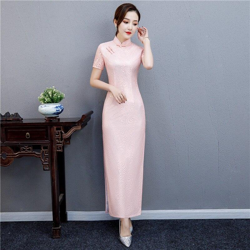 Rouge mariage dames longue multicolore Satin Cheongsam Vintage broderie chinoise traditionnelle robe imprimée Qipao Oversize 3XL