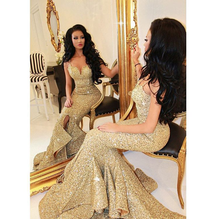 Sweetheart Gold Dress
