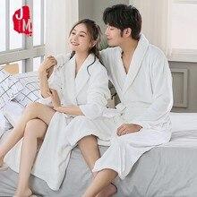 Winter Robes For Women Bathrobe Couple Thick Warm Towel Flannel Cashmere Men Sleepwear Long Soft Robe Nightgown Kimono