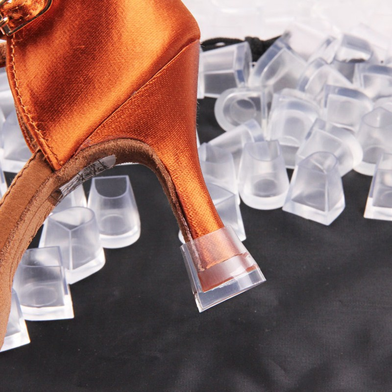 BSAID 1 Pair 3 Size Latin Dance Shoes Transparent Shoe Care Kit Cap Shoe Care Hard Wearing High Heeler Heel Protector Stoppers