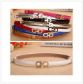 Fashion Chic  Lady PU Leather Skinny Belts Alloy Buckle  Ceinture Women Waistband Ladies Girdle Cummerbunds  B-16383