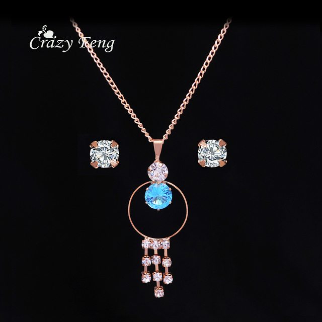 Aliexpresscom Buy 2017 Wholesale Trendy Jewelry Set Rose Gold