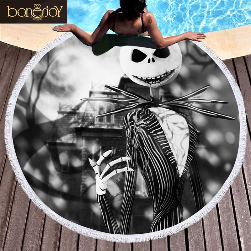 Bonenjoy Black And White Beach Towel Microfiber