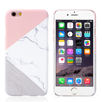 New Arrival Hot Granite Marble Pink Case Cover For IPhone 7 Plus 5s 6 6S Contrast