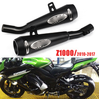 Slip On Z1000 Motorcycle Exhaust System Muffler Black Exhaust Pipe Whole Set Pipe For Kawasaki Z1000 2010 2017