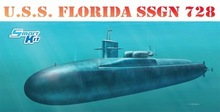 Dragon 1/350th Scale U.S.S. Florida SSGN-728 Kit No. 1056