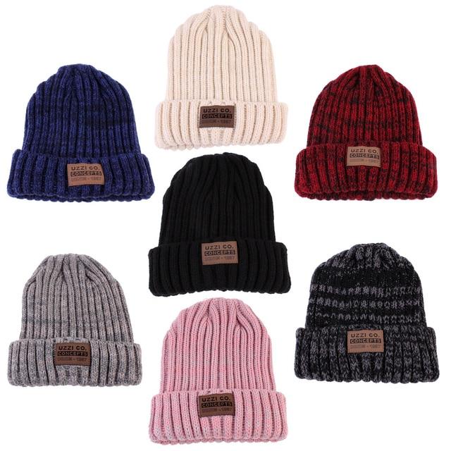 4e58574677a 1Pcs Fashion Unisex Winter Warm Hats For Women Wool Knit Crochet Hat Autumn  Spring Female Men