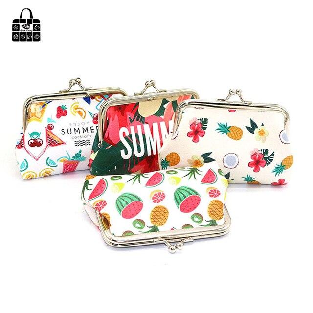 8bceb877d13b Роза дневник творчески прекрасные детские фруктовые портмоне женский  ключевой мешок мультфильм пряжки небольшая сумка для хранения