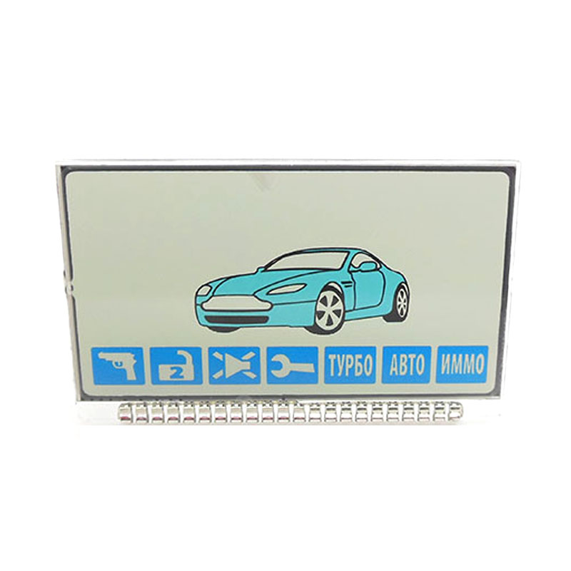 Russian version A61 lcd display for Starline A61/b6 dialog lcd remote two way car alarm system