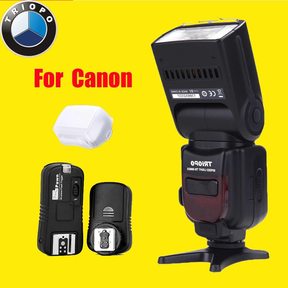 Triopo TR-586EX беспроводной режим вспышки TTL flash-speedlite TR-586EX + пиксела TF-361 внезапный для Canon EOS 550D 60D 5D Mark3