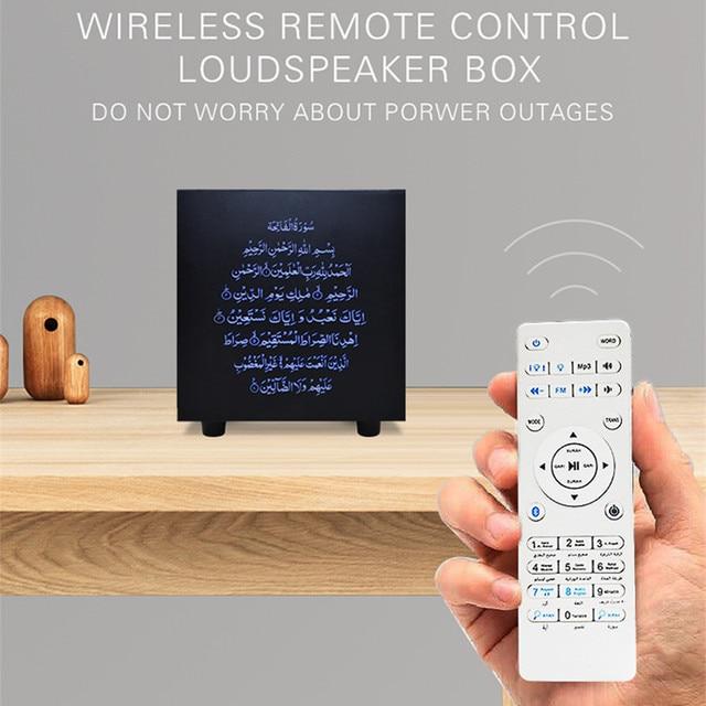 קוראן מגע מנורת אלחוטי Bluetooth רמקול שלט רחוק צבעוני LED לילה אור מוסלמי קוראן מדקלם FM TF MP3 מוסיקה מנורה