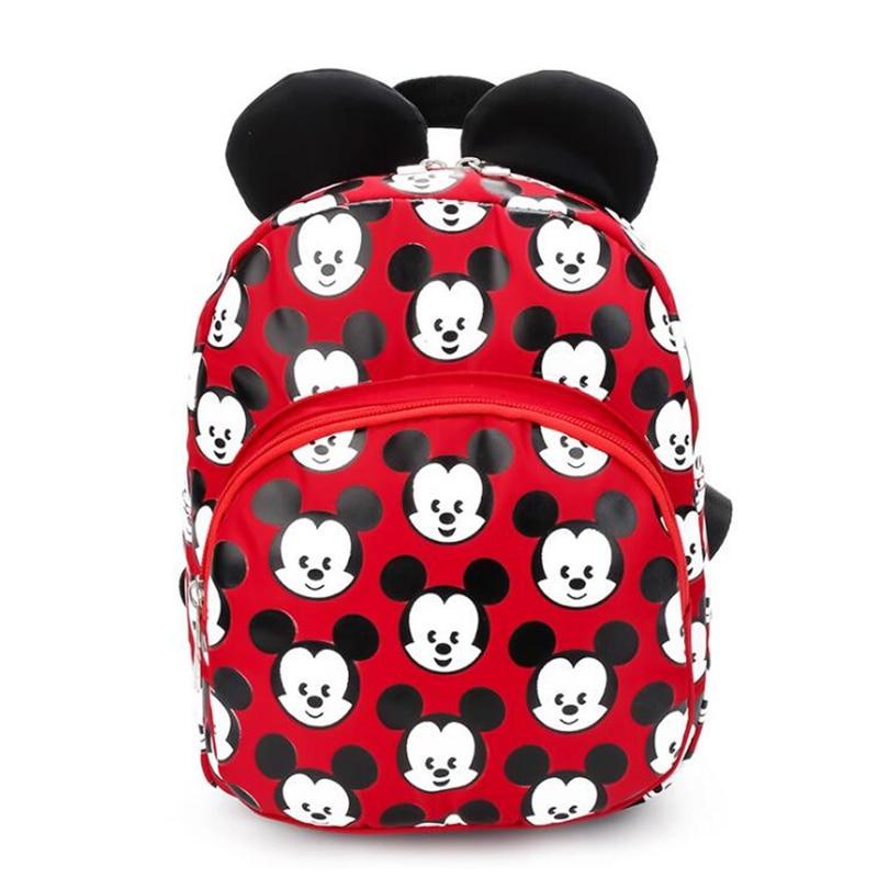 2018 Fashion Miceky Shape Kindergarten Backpack Kids Bag Quality Nylon Small School Bags for Girls Boys Aged 3-6 Preschool Bags
