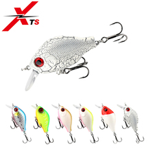 Купить с кэшбэком XTS 45mm 7.5g Fishing Lures Minnow Floating 6 Colors Crankbait Lifelike Hard Bait Wobbler Bass Carp Fishing Tackle Jerkbait 3528