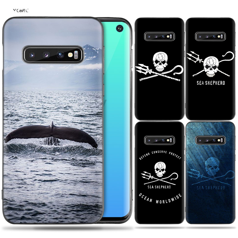 Silicone Case Coque for Samsung Galaxy S8 S9 S10 Plus S10e 5G S6 S7 Edge S8+ S9+ S10+ Note 8 9 Sea Shepherd Whale Wars Anti Whal