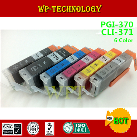 ФОТО 6 color compatible Ink cartridge suit for PGI-370 CLI-371 ,suit for Canon PIXUS MG5730 MG6930 MG7730F MG7730 . with GY